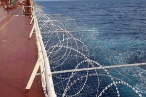 Galvanized Razor Wire for Ship Security